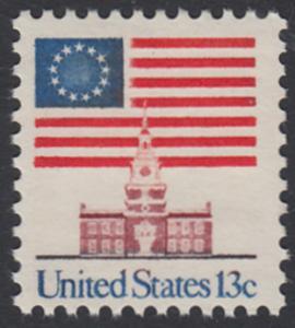USA Michel 1194 / Scott 1622 postfrisch EINZELMARKE - Altes Sternenbanner und Unabhängigkeitshalle, Philadelphia