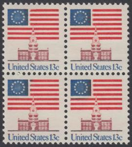 USA Michel 1194 / Scott 1622 postfrisch BLOCK - Altes Sternenbanner und Unabhängigkeitshalle, Philadelphia