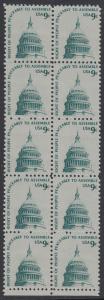 USA Michel 1195 / Scott 1591 postfrisch vert.BLOCK(10) RÄNDER unten - Americana-Ausgabe: Kuppel des Kongressgebäudes in Washington, DC