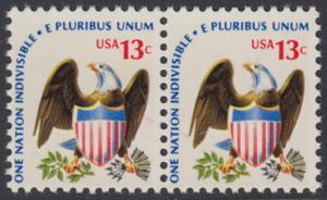 USA Michel 1196 / Scott 1596 postfrisch horiz.PAAR - Americana-Ausgabe: Adler mit Wappenschild