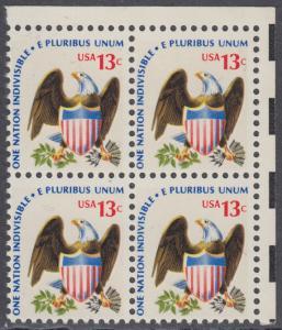 USA Michel 1196 / Scott 1596 postfrisch BLOCK ECKRAND oben rechts - Americana-Ausgabe: Adler mit Wappenschild