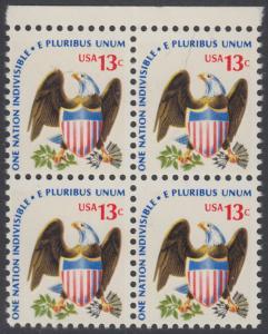 USA Michel 1196 / Scott 1596 postfrisch BLOCK RÄNDER oben - Americana-Ausgabe: Adler mit Wappenschild