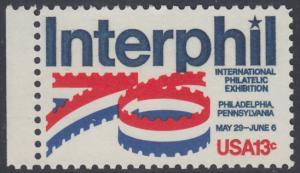 """USA Michel 1202 / Scott 1632 postfrisch EINZELMARKE RAND links (a2) - Internationale Briefmarkenausstellung """"Interphil"""", Philadelphia"""
