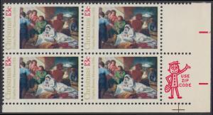 USA Michel 1289 / Scott 1701 postfrisch ZIP-BLOCK (lr) - Weihnachten; Geburt Christi