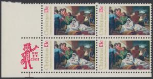 USA Michel 1289 / Scott 1701 postfrisch ZIP-BLOCK (ll) - Weihnachten; Geburt Christi