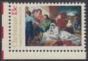 USA Michel 1289 / Scott 1701 postfrisch EINZELMARKE ECKRAND unten links - Weihnachten; Geburt Christi