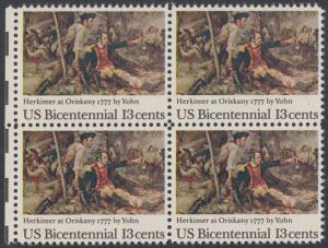 USA Michel 1310 / Scott 1722 postfrisch BLOCK RÄNDER links - Unabhängigkeit der Vereinigten Staaten von Amerika (1976): 200. Jahrestag der Schlacht von Oriskany