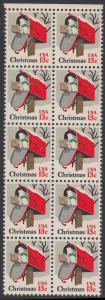 USA Michel 1318 / Scott 1730 postfrisch vert.BLOCK(10) RÄNDER oben - Weihnachten: Briefkasten