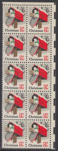 USA Michel 1318 / Scott 1730 postfrisch vert.BLOCK(10) ECKRAND oben rechts - Weihnachten: Briefkasten