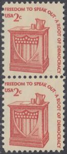 USA Michel 1321 / Scott 1582 postfrisch vert.PAAR - Americana-Ausgabe: Rednerpult