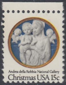 USA Michel 1368 / Scott 1768 postfrisch EINZELMARKE RAND oben - Weihnachten: Madonna und Kind