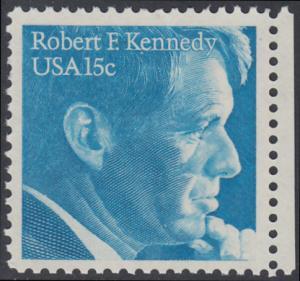 USA Michel 1371 / Scott 1770 EINZELMARKE RAND rechts - Robert Francis Kennedy, Politiker
