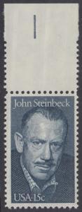 USA Michel 1374 / Scott 1773 postfrisch EINZELMARKE RAND oben - John Steinbeck (1902-1968), Romanschriftsteller