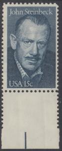 USA Michel 1374 / Scott 1773 postfrisch EINZELMARKE RAND unten - John Steinbeck (1902-1968), Romanschriftsteller