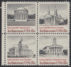 USA Michel 1382-1385 / Scott 1779-1782 postfrisch BLOCK RÄNDER links (a1) - Amerikanische Architektur