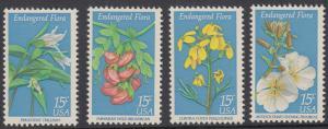 USA Michel 1386-1389 / Scott 1783-1786 postfrisch SET(4) EINZELMARKEN - Naturschutz: Blumen