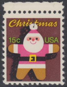 USA Michel 1403 / Scott 1800 postfrisch EINZELMARKE RAND oben - Weihnachten: Santa Claus