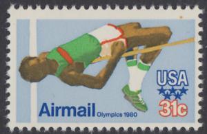 USA Michel 1405 / Scott C097 postfrisch EINZELMARKE - Olympische Sommerspiele 1980, Moskau; Hochsprung