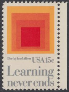 USA Michel 1440 / Scott 1833 postfrisch EINZELMARKE RAND rechts - Erziehung
