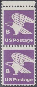 USA Michel 1457A / Scott 1818 postfrisch vert.PAAR RAND oben - Adler, Emblem der US-Post