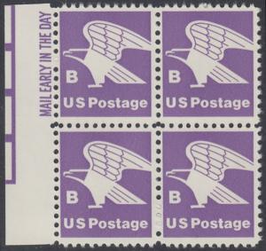 USA Michel 1457A / Scott 1818 postfrisch BLOCK RÄNDER links m/ Mail Early-Vermerk - Adler, Emblem der US-Post