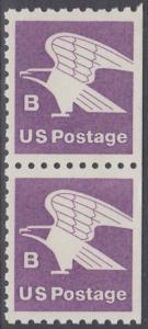 USA Michel 1457D / Scott 1819 postfrisch vert.PAAR (rechts ungezähnt) - Adler, Emblem der US-Post