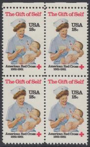 USA Michel 1467 / Scott 1910 postfrisch BLOCK RÄNDER oben - Amerikanisches Rotes Kreuz