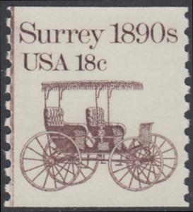USA Michel 1480 / Scott 1907 postfrisch EINZELMARKE - Fahrzeuge: Kutsche