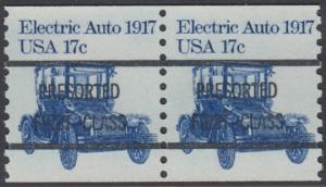 USA Michel 1492 / Scott 1906 postfrisch/precancelled horiz.PAAR precancelled - Fahrzeuge: Elektroauto