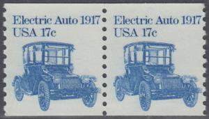 USA Michel 1492 / Scott 1906 postfrisch horiz.PAAR - Fahrzeuge: Elektroauto