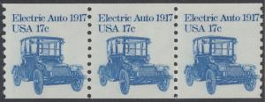 USA Michel 1492 / Scott 1906 postfrisch horiz.STRIP(3) - Fahrzeuge: Elektroauto