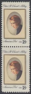 USA Michel 1498 / Scott 1926 postfrisch vert.PAAR - Edna St. Vincent Millay (1892-1950), Dichterin