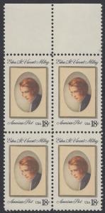 USA Michel 1498 / Scott 1926 postfrisch BLOCK RÄNDER oben - Edna St. Vincent Millay (1892-1950), Dichterin