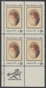 USA Michel 1498 / Scott 1926 postfrisch ZIP-BLOCK (ll) - Edna St. Vincent Millay (1892-1950), Dichterin