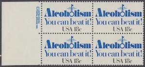 USA Michel 1499 / Scott 1927 postfrisch BLOCK RÄNDER links m/ copyright symbol - Kampf gegen den Alkoholismus