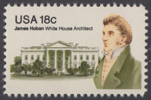 USA Michel 1509 / Scott 1935 postfrisch EINZELMARKE - James Hoban (1762-1831), Architekt des Weißen Hauses