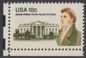 USA Michel 1509 / Scott 1935 postfrisch EINZELMARKE ECKRAND unten links - James Hoban (1762-1831), Architekt des Weißen Hauses