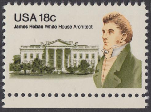 USA Michel 1509 / Scott 1935 postfrisch EINZELMARKE RAND unten - James Hoban (1762-1831), Architekt des Weißen Hauses 0