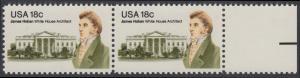 USA Michel 1509 / Scott 1935 postfrisch horiz.PAAR RAND rechts - James Hoban (1762-1831), Architekt des Weißen Hauses