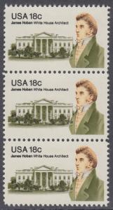 USA Michel 1509 / Scott 1935 postfrisch vert.STRIP(3) - James Hoban (1762-1831), Architekt des Weißen Hauses
