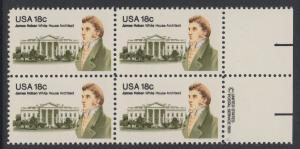 USA Michel 1509 / Scott 1935 postfrisch BLOCK RÄNDER rechts m/ copyright synmbol (a2) - James Hoban (1762-1831), Architekt des Weißen Hauses