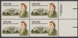 USA Michel 1509 / Scott 1935 postfrisch BLOCK RÄNDER rechts m/ copyright synmbol (a1) - James Hoban (1762-1831), Architekt des Weißen Hauses
