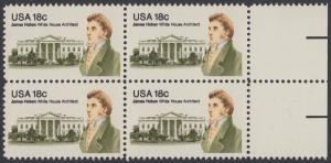 USA Michel 1509 / Scott 1935 postfrisch BLOCK RÄNDER rechts - James Hoban (1762-1831), Architekt des Weißen Hauses