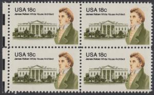 USA Michel 1509 / Scott 1935 postfrisch BLOCK RÄNDER links - James Hoban (1762-1831), Architekt des Weißen Hauses