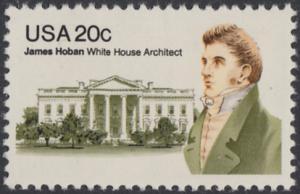 USA Michel 1510 / Scott 1936 postfrisch EINZELMARKE - James Hoban (1762-1831), Architekt des Weißen Hauses