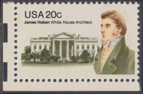 USA Michel 1510 / Scott 1936 postfrisch EINZELMARKE ECKRAND unten links - James Hoban (1762-1831), Architekt des Weißen Hauses 0