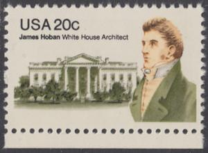 USA Michel 1510 / Scott 1936 postfrisch EINZELMARKE RAND unten - James Hoban (1762-1831), Architekt des Weißen Hauses