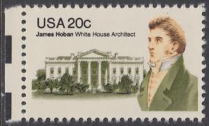 USA Michel 1510 / Scott 1936 postfrisch EINZELMARKE RAND links - James Hoban (1762-1831), Architekt des Weißen Hauses