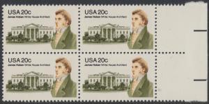 USA Michel 1510 / Scott 1936 postfrisch BLOCK RÄNDER rechts - James Hoban (1762-1831), Architekt des Weißen Hauses