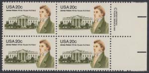 USA Michel 1510 / Scott 1936 postfrisch BLOCK RÄNDER rechts m/ copyright symbol (a1) - James Hoban (1762-1831), Architekt des Weißen Hauses